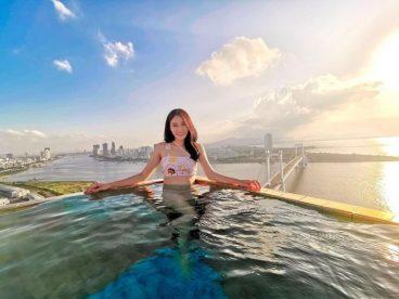 Hồ bơi Lê Thành được xây dựng trên sân thượng tầng 2 chung cư Lê Thành